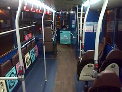 Bus interiors.