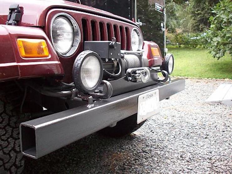 Jeep bumper DIY mod
