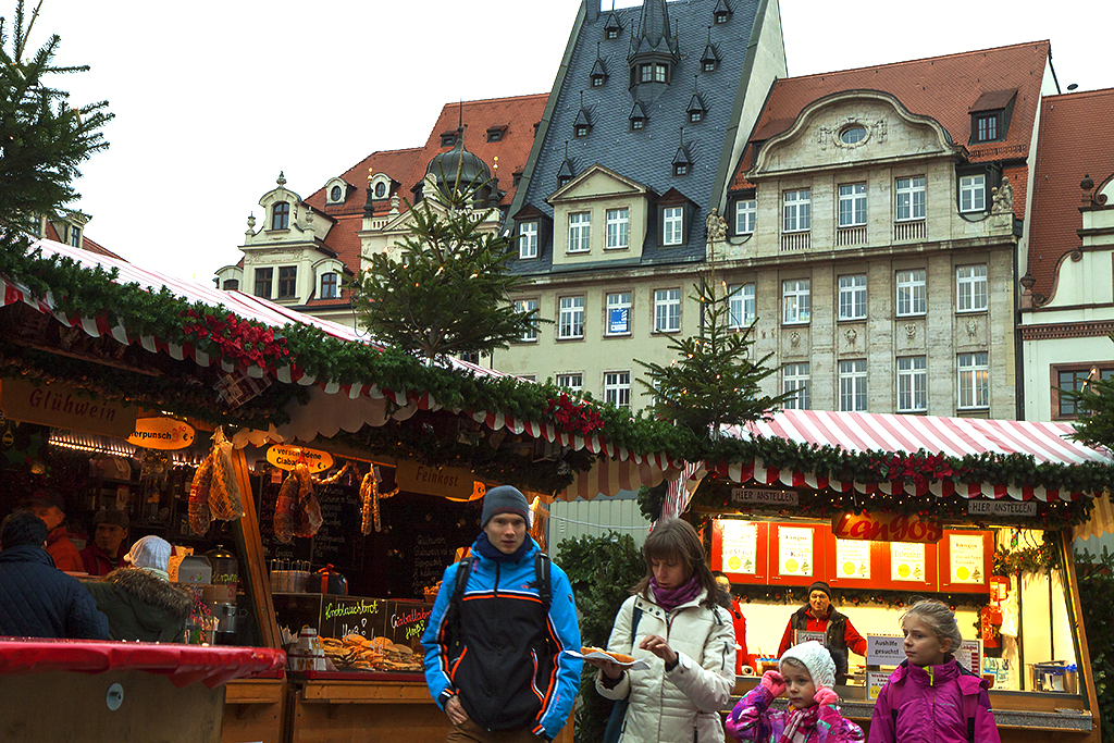 Downtown with Christmas Market--Leipzig 2