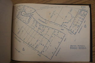 1923 block book showing house and surrounding area
