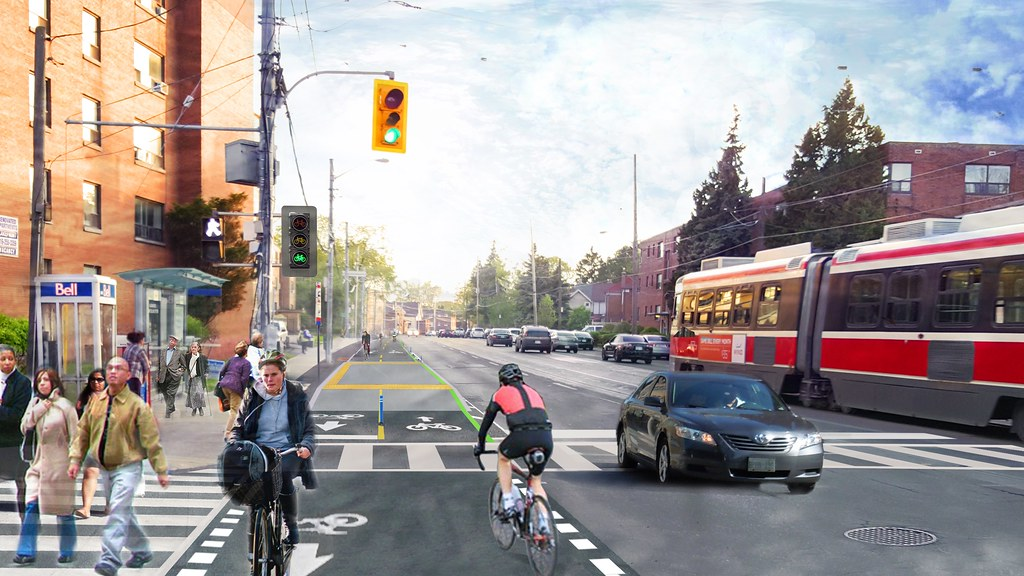 Lakeshore Cycle Track at Royal York Draft July 2