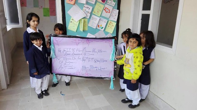 Indian and Pakistani schools exchange greeting cards on festivals