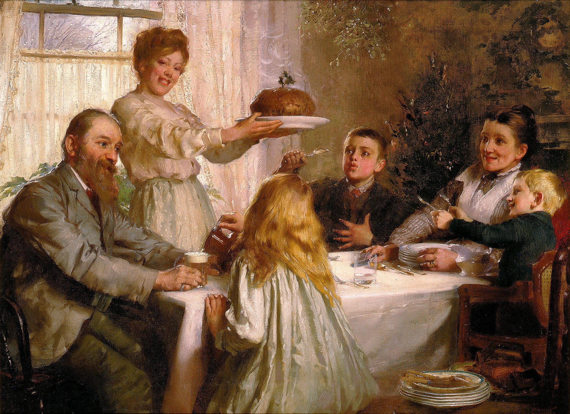 A Christmas Dole by Joseph Clark, (United Kingdom, 1834 - 1926)