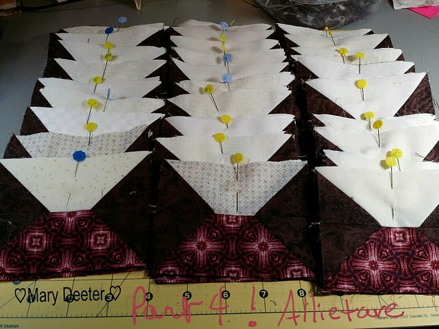 Part 4 complete  Allietare Winter Mystery Quilt