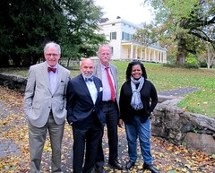 Harvey Susnick, Frank Sanchis of the World Monument Fund, Peter Onuf and Annette Gordon Reed