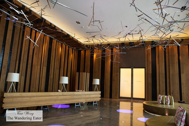 "Ground floor public area at W Taipei with the design theme of ""nature electrified"""