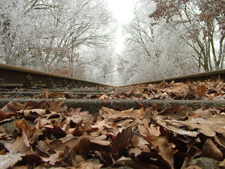 Old railroad tracks at Christmas Eve II