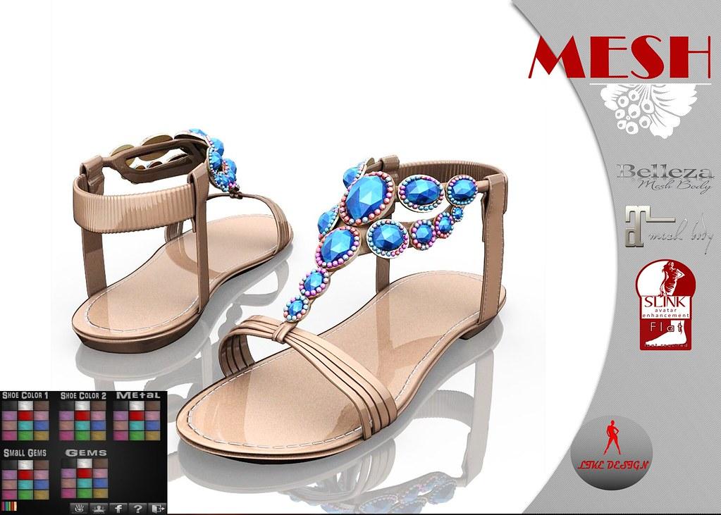 .: LIKE DESIGN :. Diamond Sandal - SecondLifeHub.com
