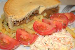 Short Crust Angus Mince Pie & Coleslaw Salad