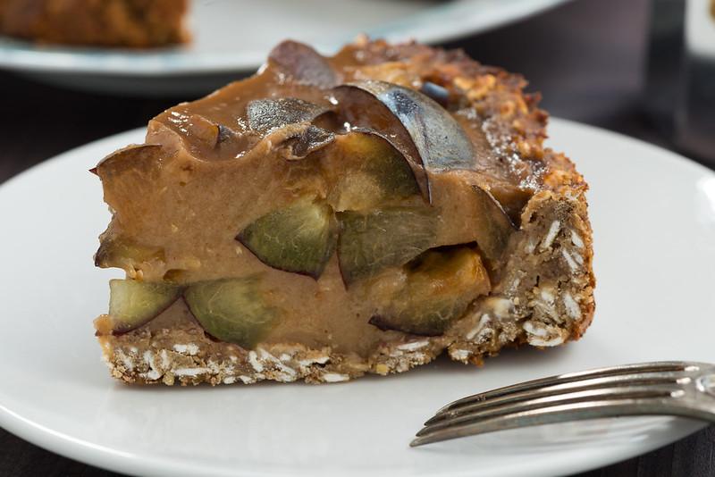 vegan tart with plums