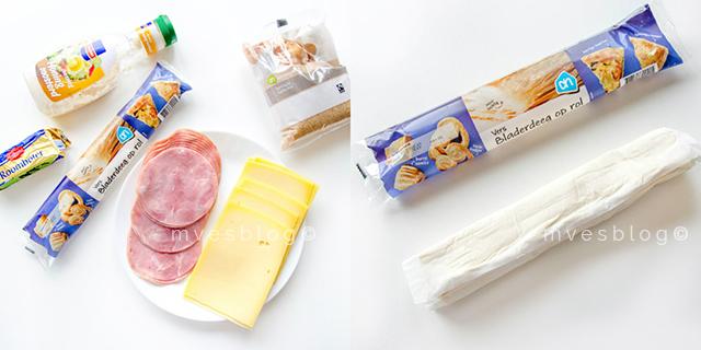 Party rolls de jamón y queso. Receta paso en vídeo.