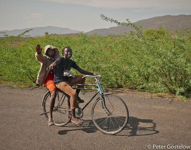 Turkana boys on the road to Kakuma