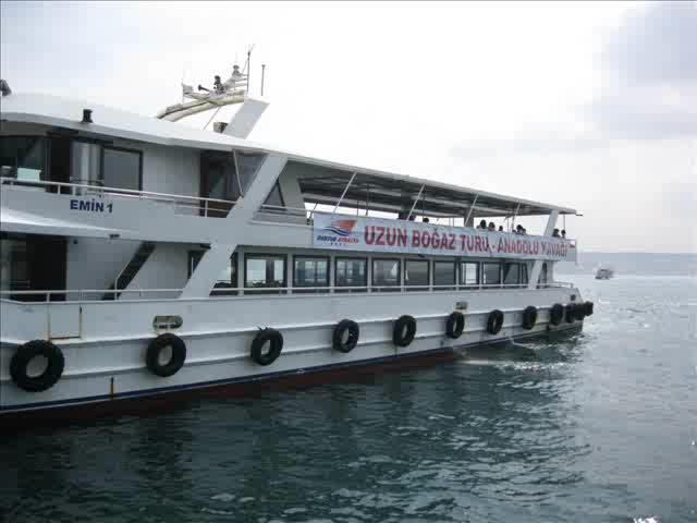 Sailing along Bosphorus