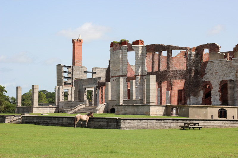 Ruins of the Carnegie Dungeness mansion on Cumberland Island