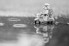 Out searching in the rain -be true to yourself! #womenintoyphotography #lego #stormtrooper #starwars #teddy #puddle #trooper