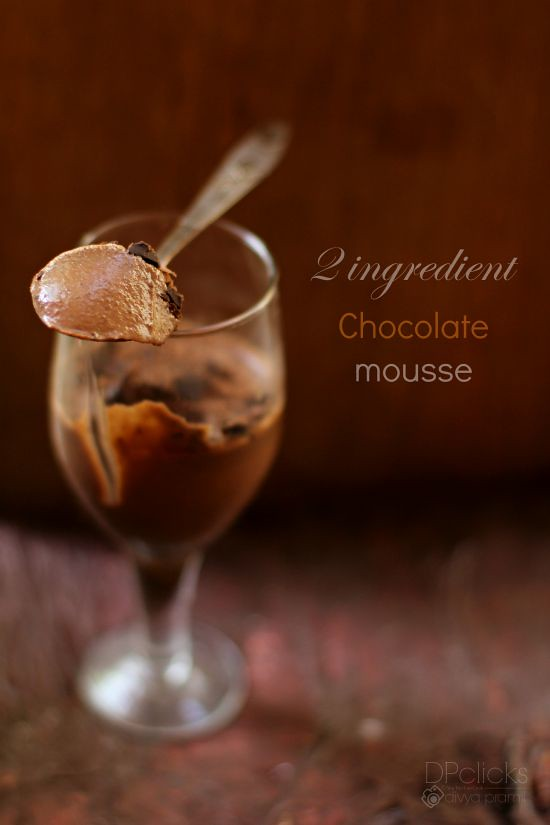 2 Ingredient Chocolate Mousse Recipe | Easy Chocolate Mousse | Chocolate Mousse Without Gelatin | Eggless Chocolate Mousse