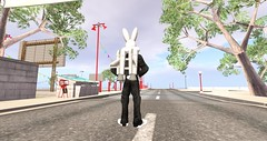 Bugs Bunny with jetpack on