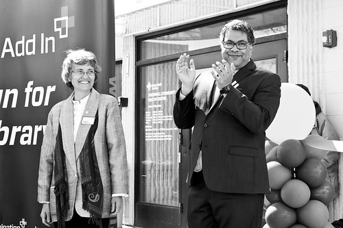 Judith Umbach and Mayor Naheed Nenshi