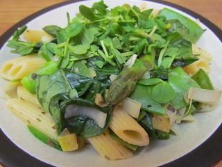 Lemony Green Veggie Pasta