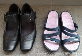靴、パンプス・クロックスサンダル