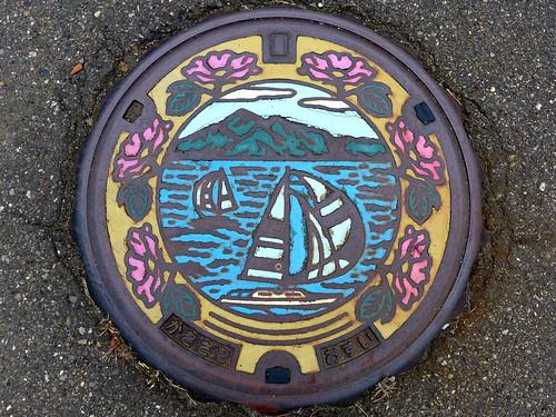 Kakizaki Nigata, manhole cover (新潟県柿崎町のマンホール)