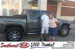 Congratulations Jose on your #Chevrolet #Colorado from Zane Beadles at Southwest KIA Rockwall!