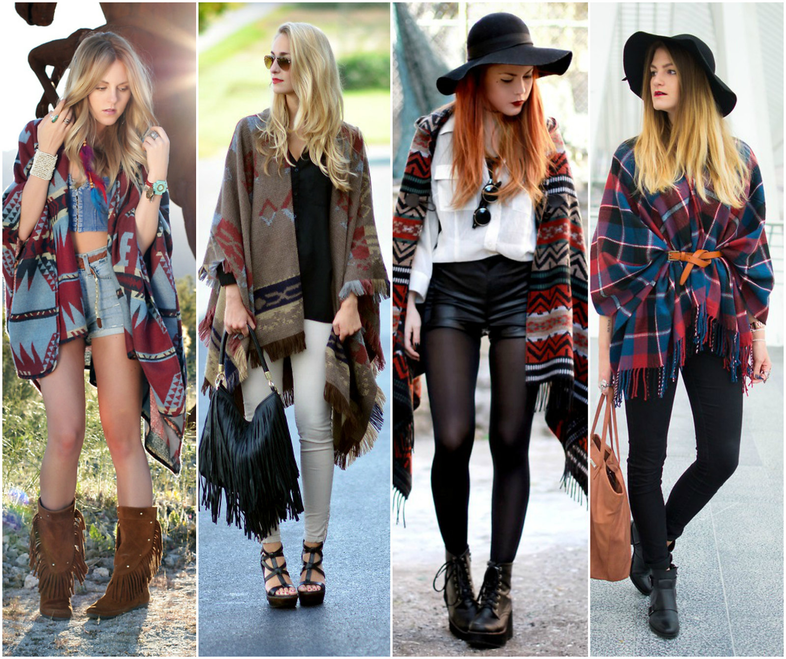 How to wear a poncho