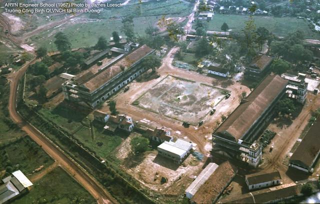 Bình Dương 1967 - Trường Công Binh - ARVN Engineer School - Photo by James Loesch