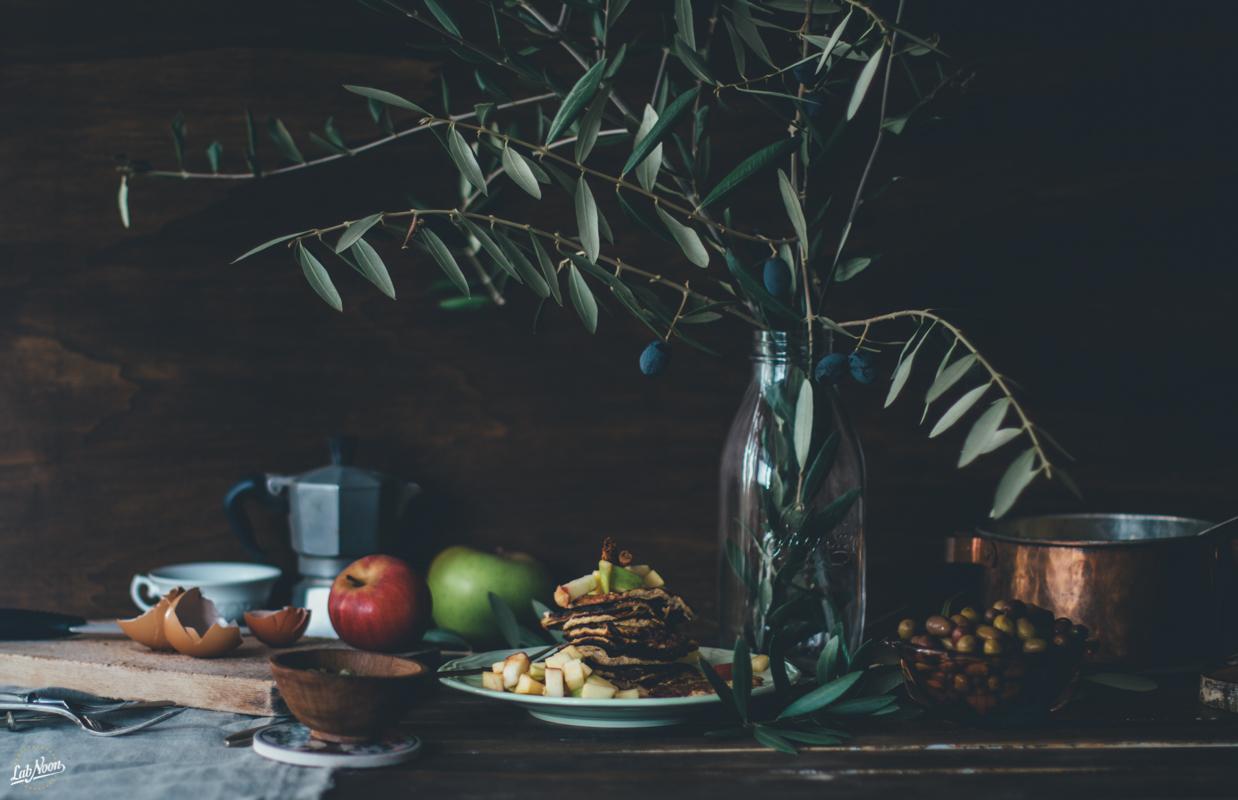 Banana Pancake with Organic Extra Virgin Olive Oil | Banana Pancake con l'Olio Extra Vergine di Oliva | Lab Noon-5