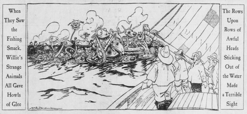 Walt McDougall - The Salt Lake herald., May 18, 1902, Strange Animals All Gave Howls Of Glee