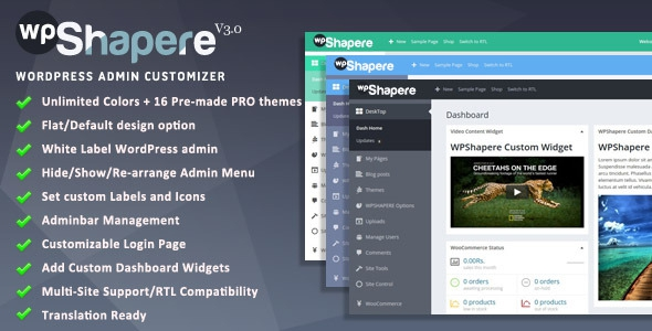 WPShapere v4.9 – WordPress Admin Theme