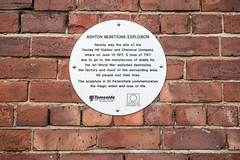 Photo of Ashton Munitions Explosion brushed metal plaque
