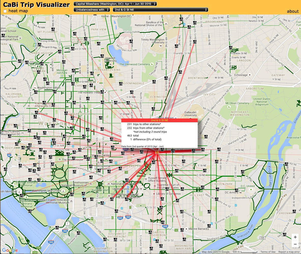 CaBi Trip Visualizer - CTHNext Bikeshare trips 00001 151026
