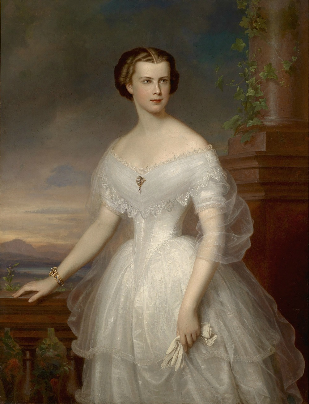 Portrait of Empress Elisabeth of Austria by Franz Schrotzberg, 1853.