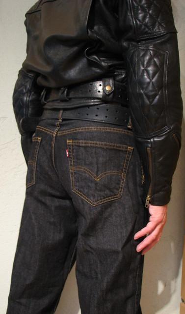 Bullhide angry belt 2x80 and 2,25x48 Levis 00560 0012 33x34 Black Rince Leather Maniacs MC-Jakke L B1S 2106 2016-10-02