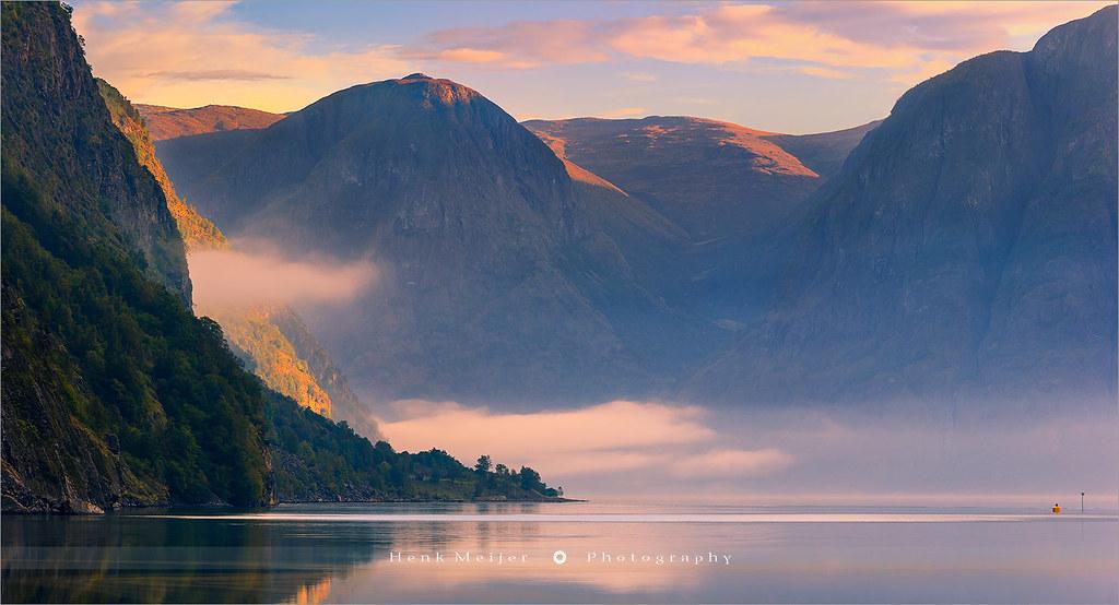 Sunrise Aurlandsfjord - Norway