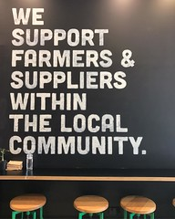 That's an awesome statement to have on your #businesses wall.  #localcommunity #local #tasmania #iphonephotography #iphone7plus
