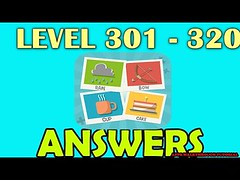 Pictoword Level 301 - 320 All Answers Walkthrough - Bug6d
