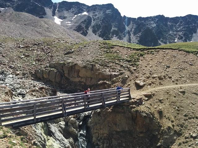Überquerung der Brücke Richtung Oberetteshütte