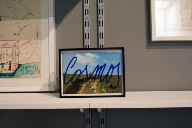 > Musée Zacheta à Varsovie : Carte postale + Cosmos écrit à la main en bleu