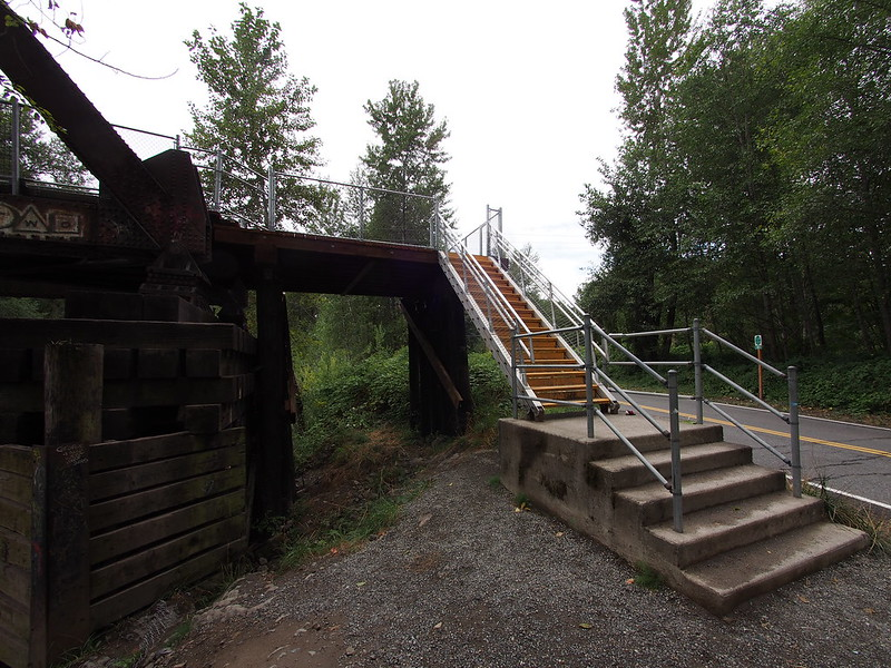 Snoqualmie River Bridge: These replaced the stairs that had been torched by an arsonist earlier.