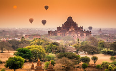 Dhammayangyi Pahto at Sunrise, Bagan, Myanmar