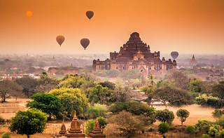 Dhammayangyi Pahto at Sunrise, Bagan, Myanmar