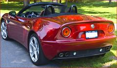 executive car(0.0), family car(0.0), ferrari california(0.0), automobile(1.0), automotive exterior(1.0), alfa romeo(1.0), vehicle(1.0), automotive design(1.0), alfa romeo 8c competizione(1.0), land vehicle(1.0), luxury vehicle(1.0), supercar(1.0), sports car(1.0),
