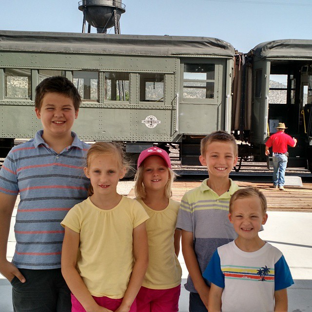 Riding the Ely train this morning! Thanks for the tickets @halfcupofsnark! During WWII people in Ely hid engine 40 in a tunnel so it wouldn't be used for scrap metal and caved in each end of the tunnel. #ely #nevada #roadtrip2015 @lee_robertson80