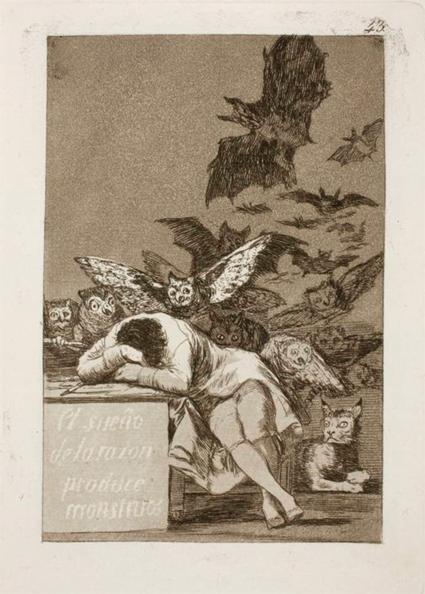 Goya El sueño de la razón produce monstruos Uti 425