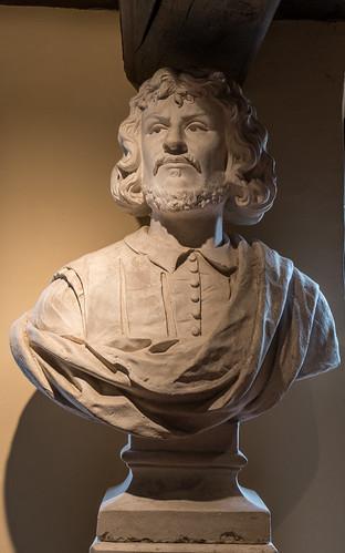 Gilles Laurent (1800 - 1877) buste de Claude Gellée dit Le Lorrain (1600 - 1682) en sa maison natale à Chamagne (Vosges, France)