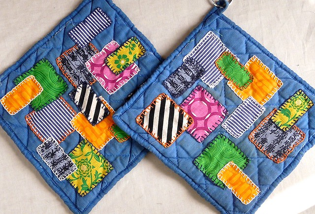 Revived Potholders, made with The Cannonball Collective