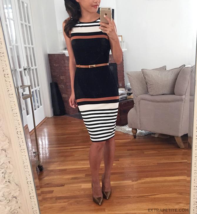 WHBM striped pencil dress