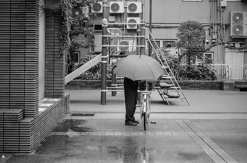 烏山 雨の日